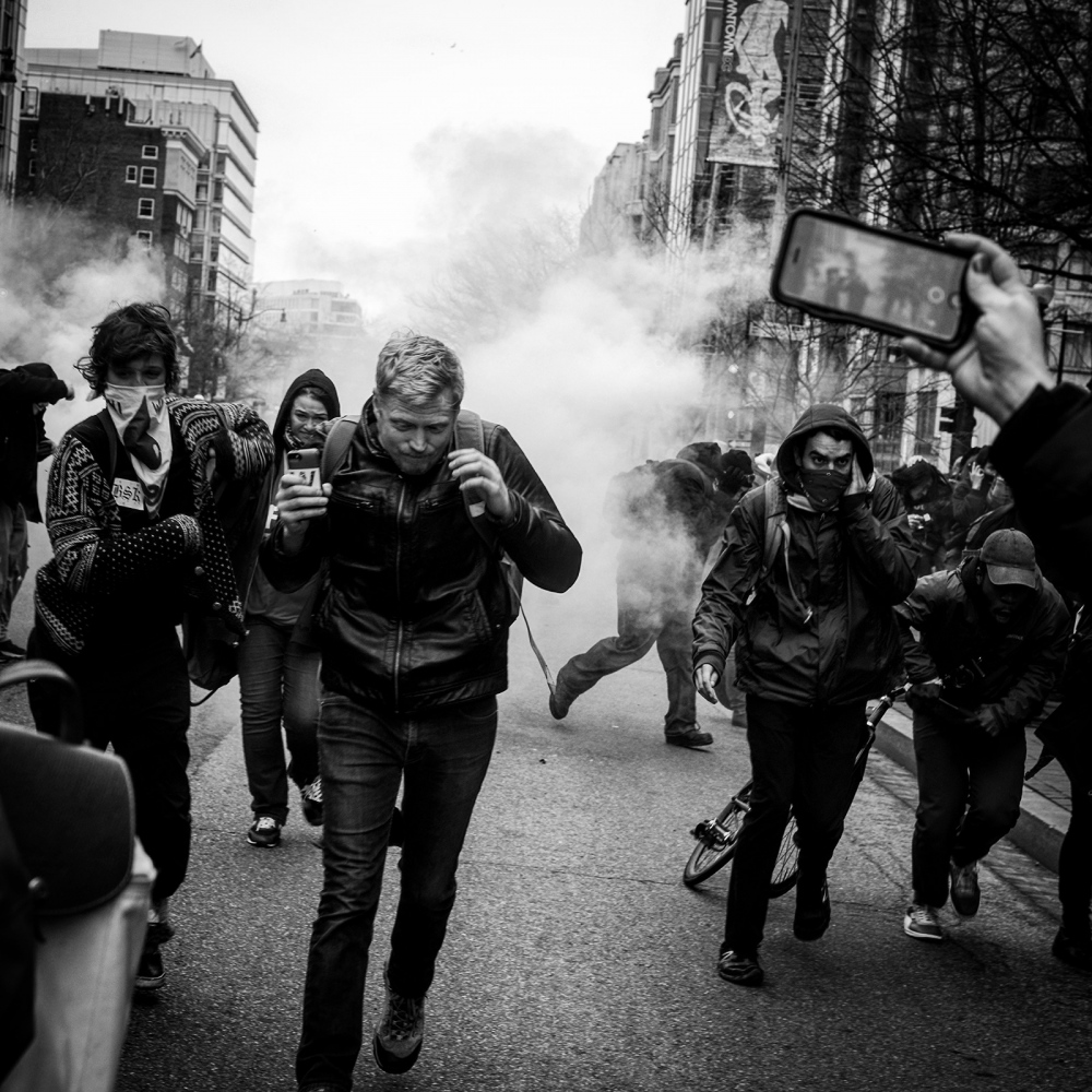 D.C. Police used pepper spray and stun grenades to control protestors on Inauguration Day Friday January 20th, 2017. Over 200 protestors and several journalists were arrested and given felony charges.