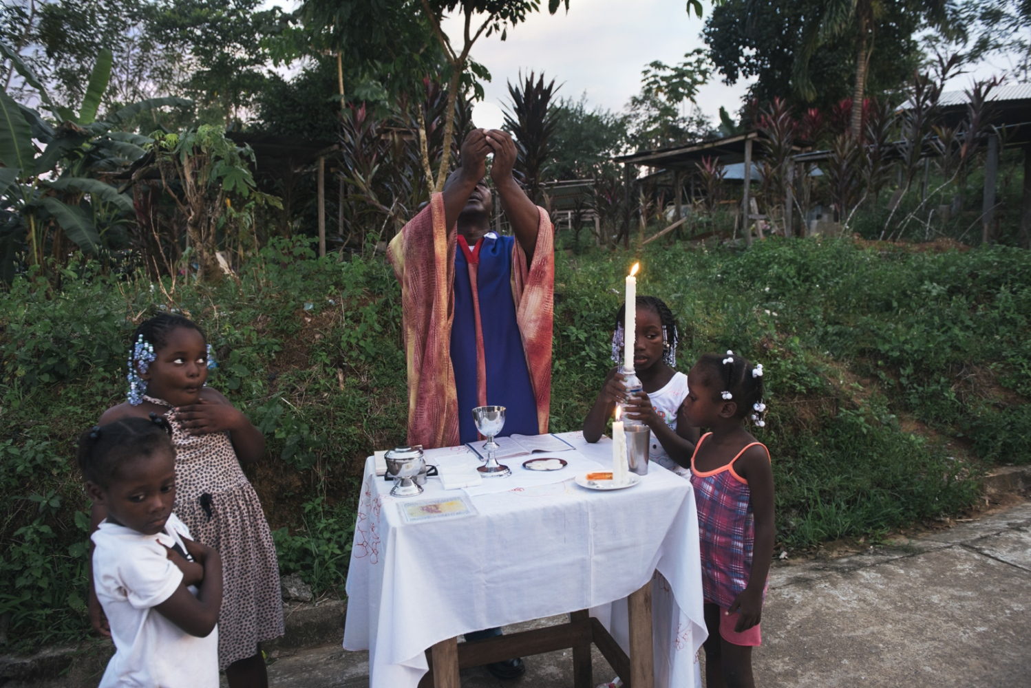 The Chocó, as much of Colombia is majoritively Christian. Years ago the church played a strong role in the life of Old Bellavista. After the massacre and with the passage of time the community started to attend less to church as it did not effectively reconstruct the social knit of the community. However, each year, a mass happens in front of the graveyard in remembrance of all of those who have died.