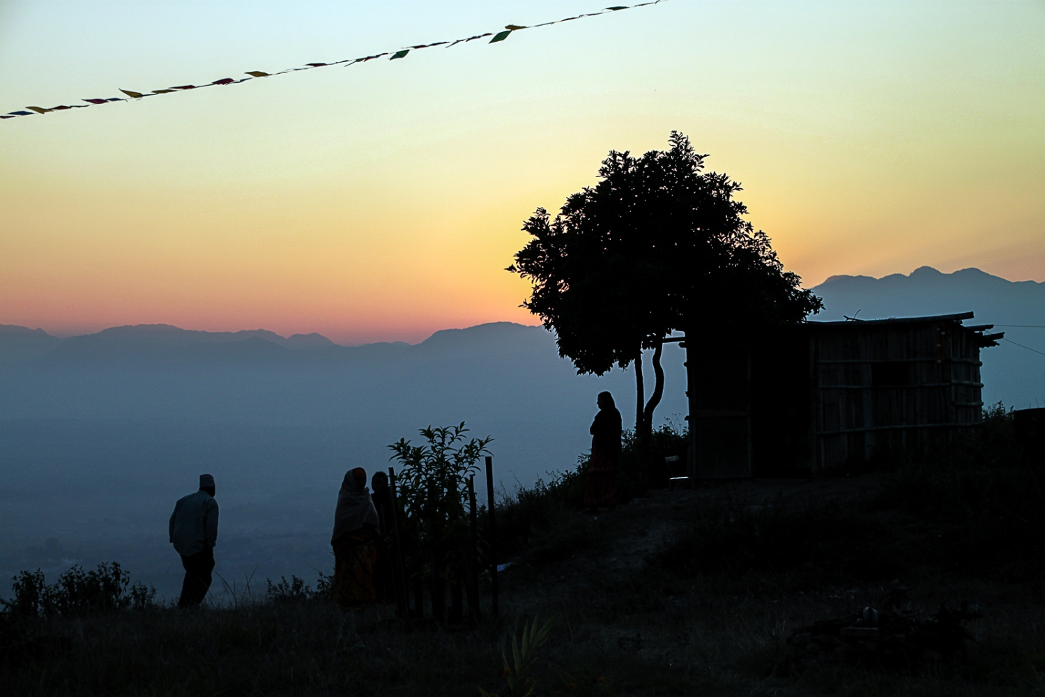 Kathmandu Valley, NEPAL, November 25, 2009: Scene at Chaling village during dusk.