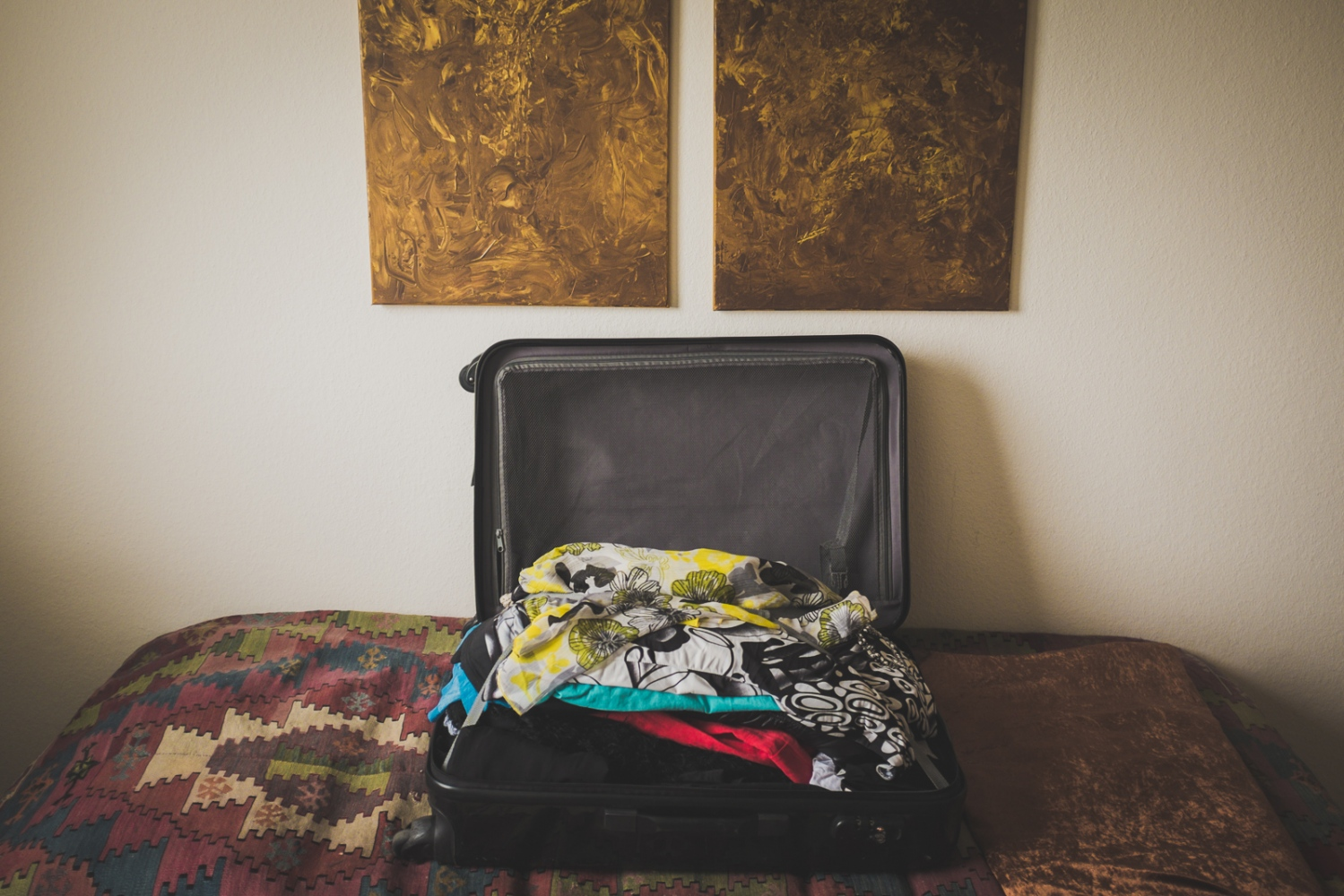 'Odyssey'. The few belongings that would accompany Helga to her new home fitted into one suitcase. Neuss, GERMANY, May 29, 2015.
