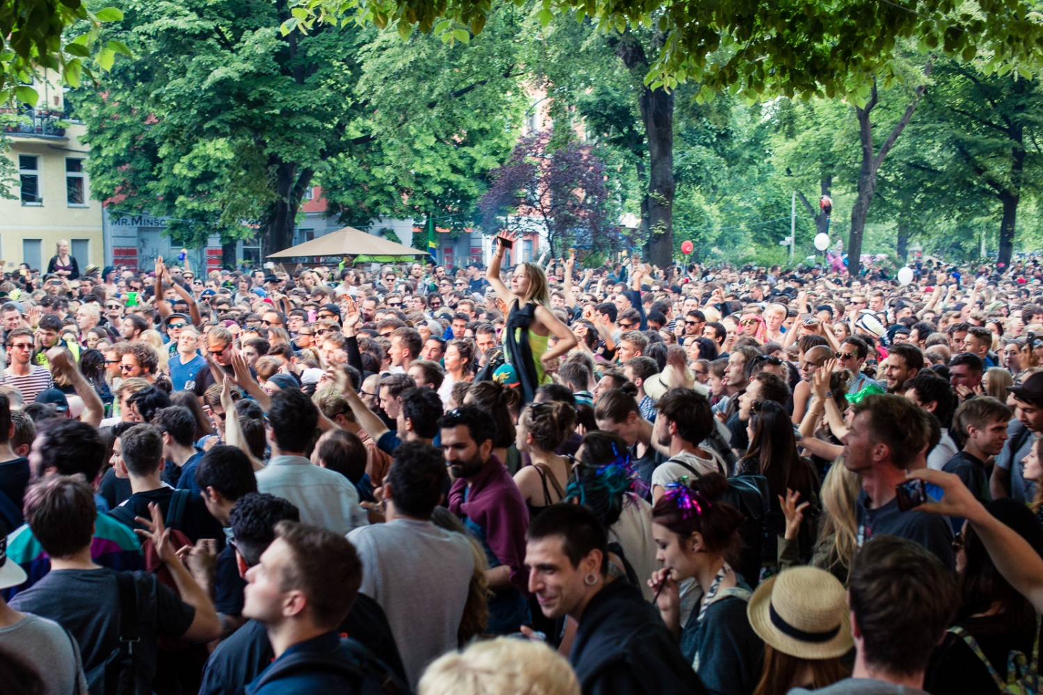 Berlin, GERMANY, May 24, 2015: Karneval der Kulturen is an annual parade celebrating the diverse cultures and musical influences in Berlin. Thousands of people gather in Berlin's streets to celebrate intercultural understanding, acceptance, and peaceful co-existence.