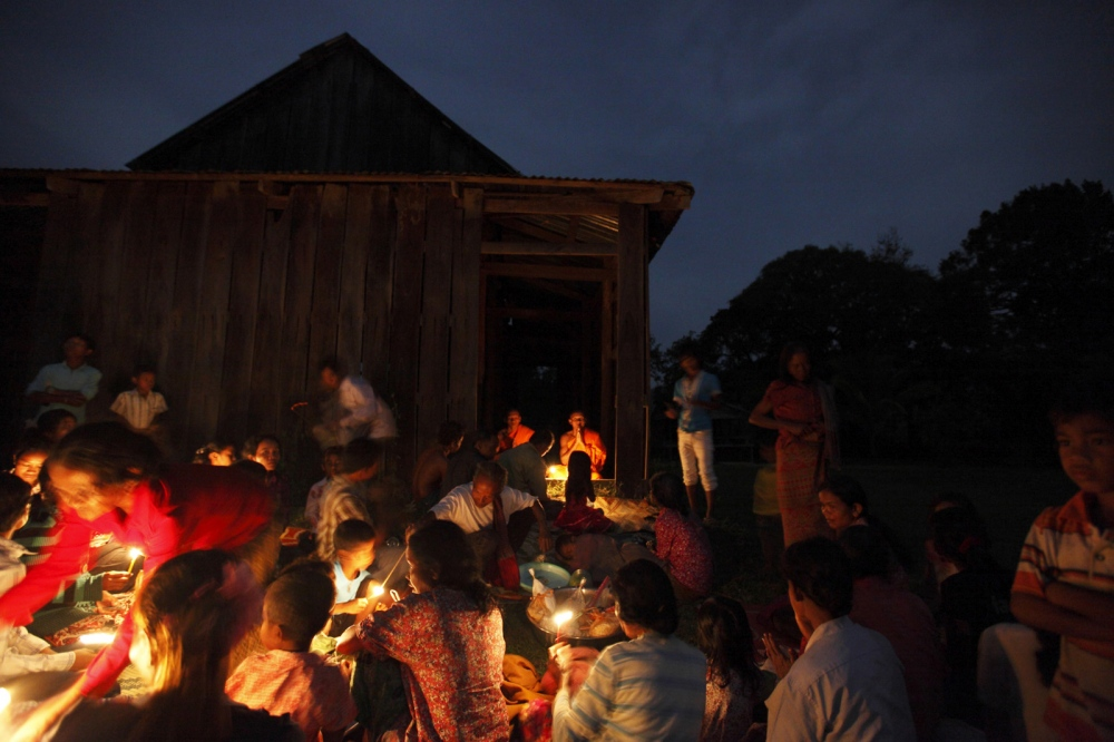 Local people of Prolay village in the Areng Valley take part in a traditional annual ceremony at their local temple.