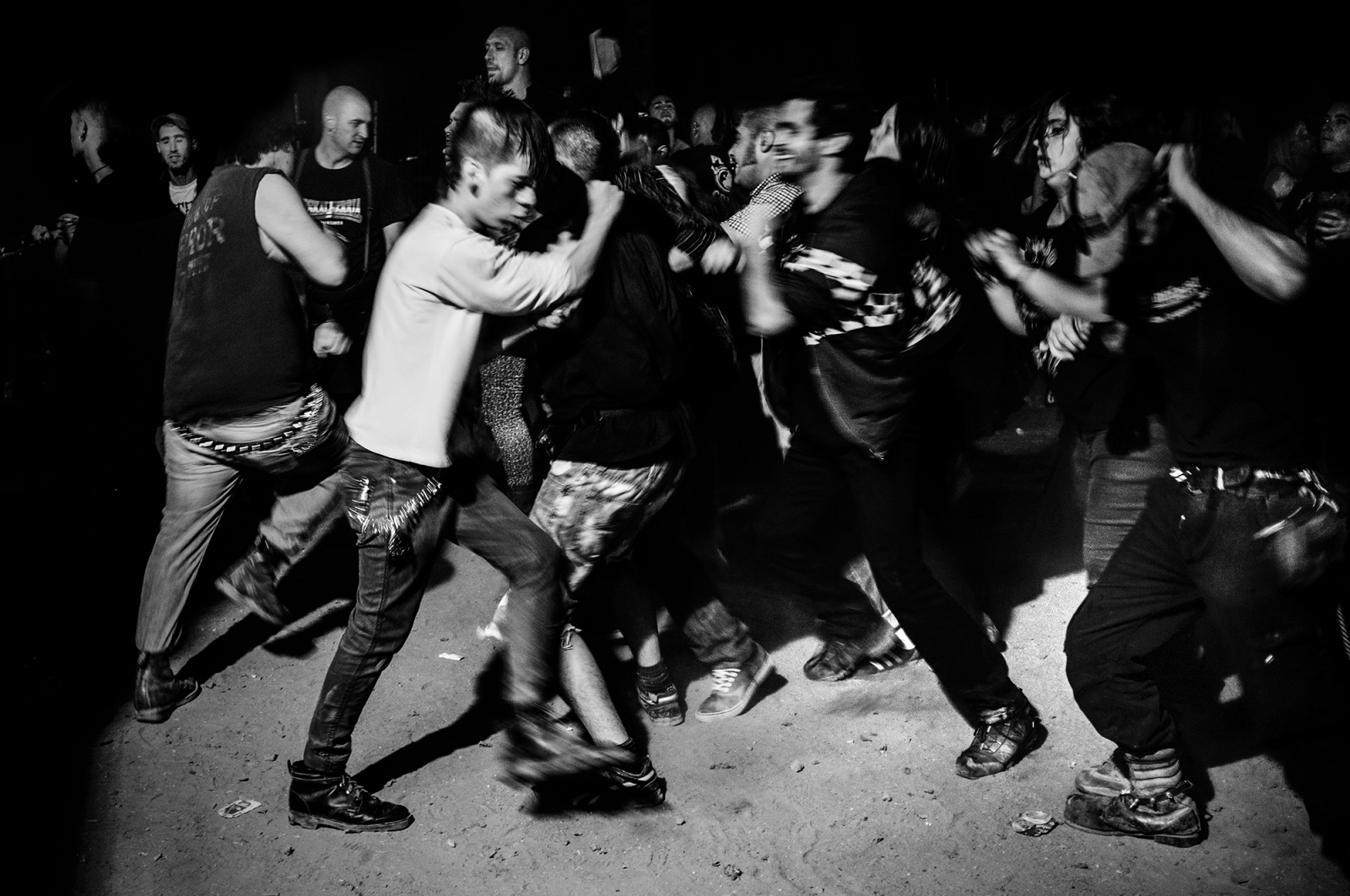 "The ""Pogo"" is a hard dance in which members are pushed and beaten during concerts of punk and hardcore music."