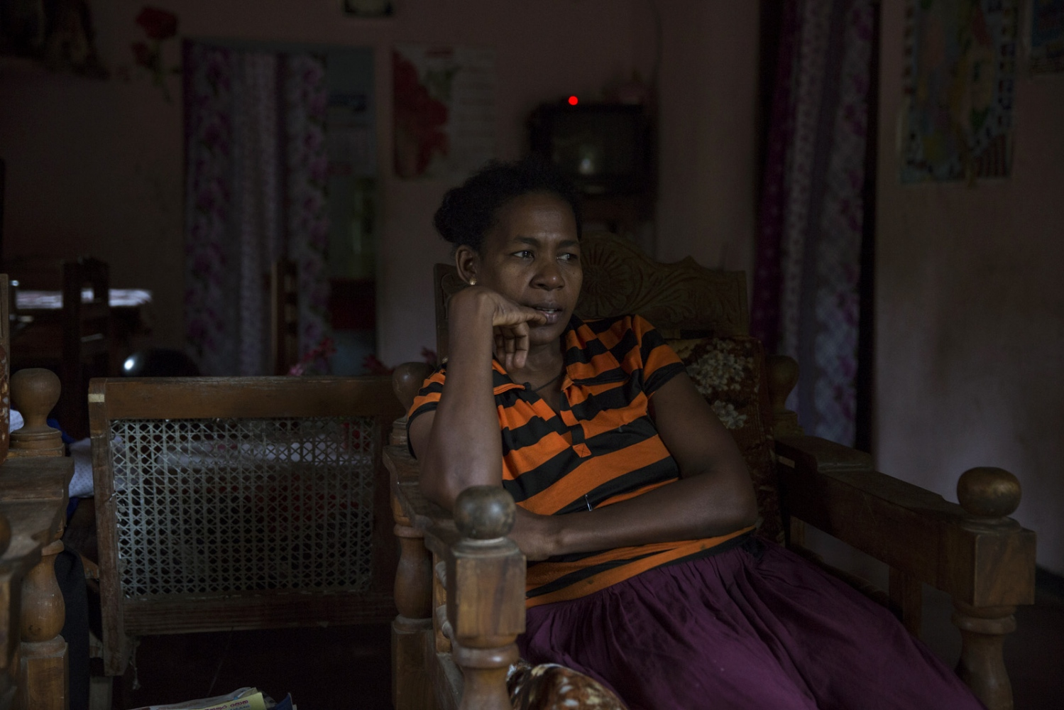 Sherine Alexander, President of the Ceylon African Society, in her house in Sirambadiya.