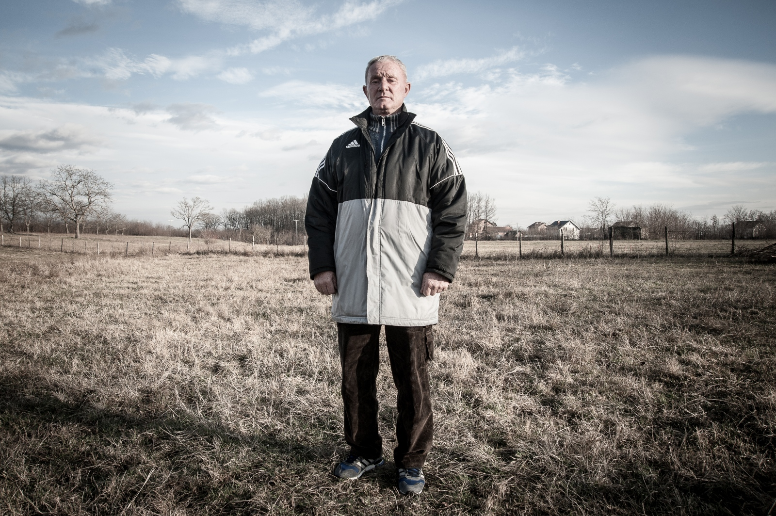 "Adam owns two hectares of the land amid the contaminated area in Kryshec. ""I saw what war leaves behind and all my crops destroyed by NATO bombing in 1999"". December 2016."