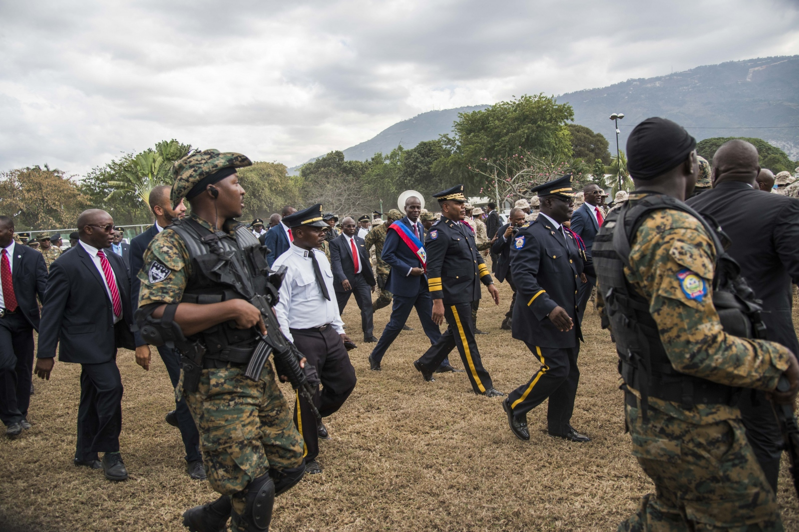 New Haitian President Jovenel Moise after his...