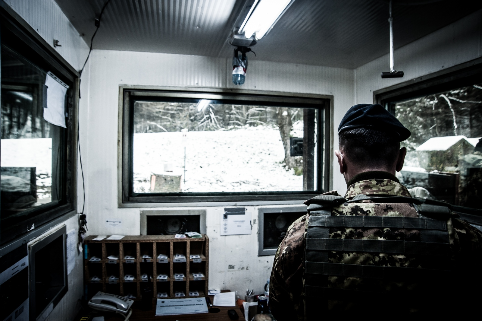 Through the use of surveillance cameras outside and inside the monastery, KFOR soldiers can easily control everything that happens in the area.