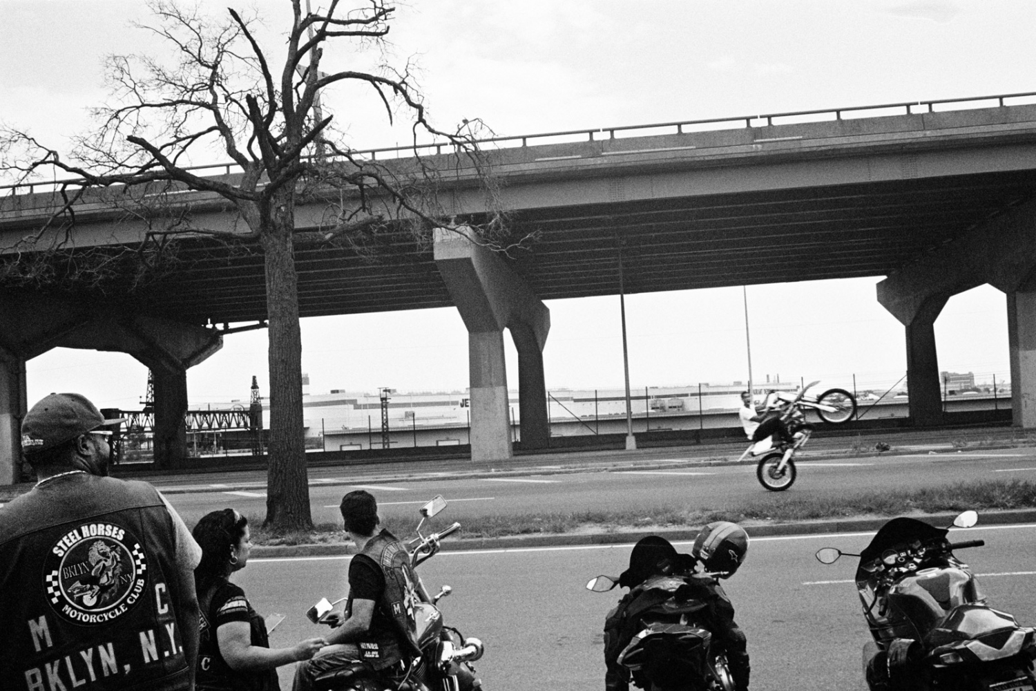 Wheelie on Bruckner Boulevard, The Bronx, 2015
