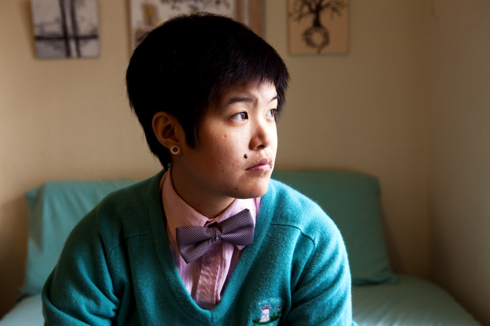 Art and Documentary Photography - Loading 34_Gender_Eli_session2_bed_bowtie_window.jpg