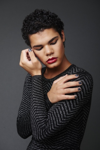 """Jesse  """"I am genderfluid:I portray whatever aspects of gender I feelare fitting at the time.I am whoever I want to be,and it's pretty damn awesome.""""  Jesse is a biological male yet does not identify with one gender over another."""