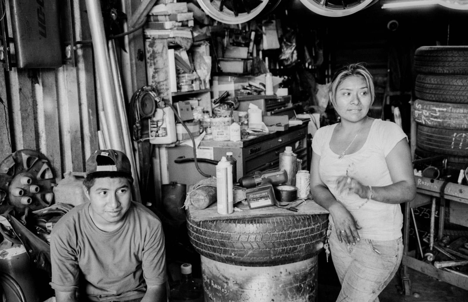 Lina Tapia is one of a hand full of women who own there on shops in Willets Point.