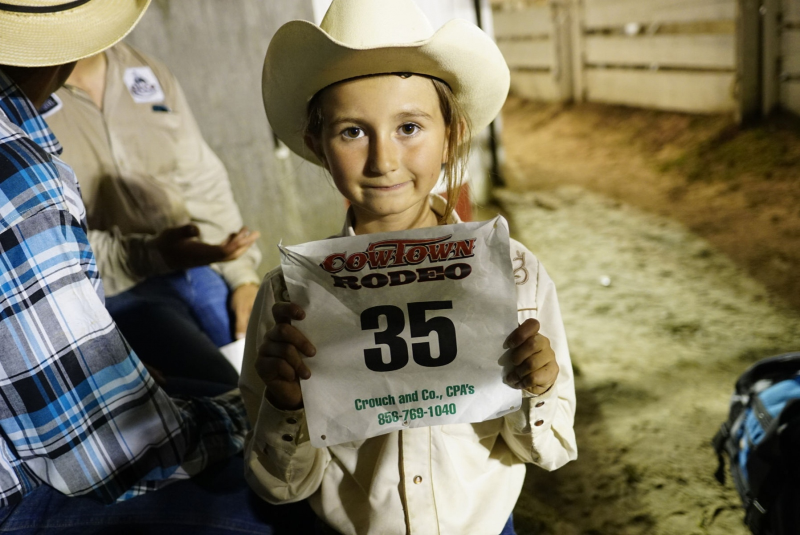 Petite and small 8-year old Cheyenne Gugliotti has won the 2014 Barrel Racing Championship for her age group. She attended Cowtown Rodeo last Saturday, not to compete, but to make sure her father is OK. Every Saturday when he competes in bull riding, she is there by his side while Cheyenne's mom is recovering from injuries to her face after a horse riding accident; some of the bones on her face were broken. They both attend cowboy church to pray for his safety. Last Saturday, her father shirt was torn but otherwise, he was okay. They live in Connecticut on a ranch; her father is the 3rd generation of horsemen.