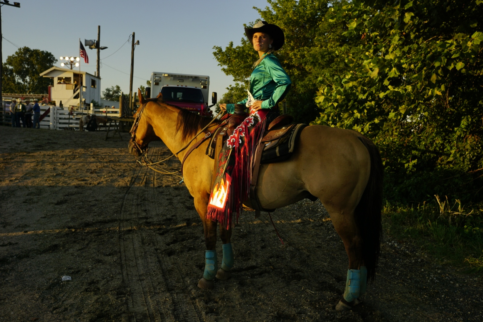 Kelsey Wallace, Miss Teen Rodeo New Jersey, before the start of the rodeo at Cowtown Rodeo in Woodstown, NJ.(Kevin C. Downs/Agence Cosmos)