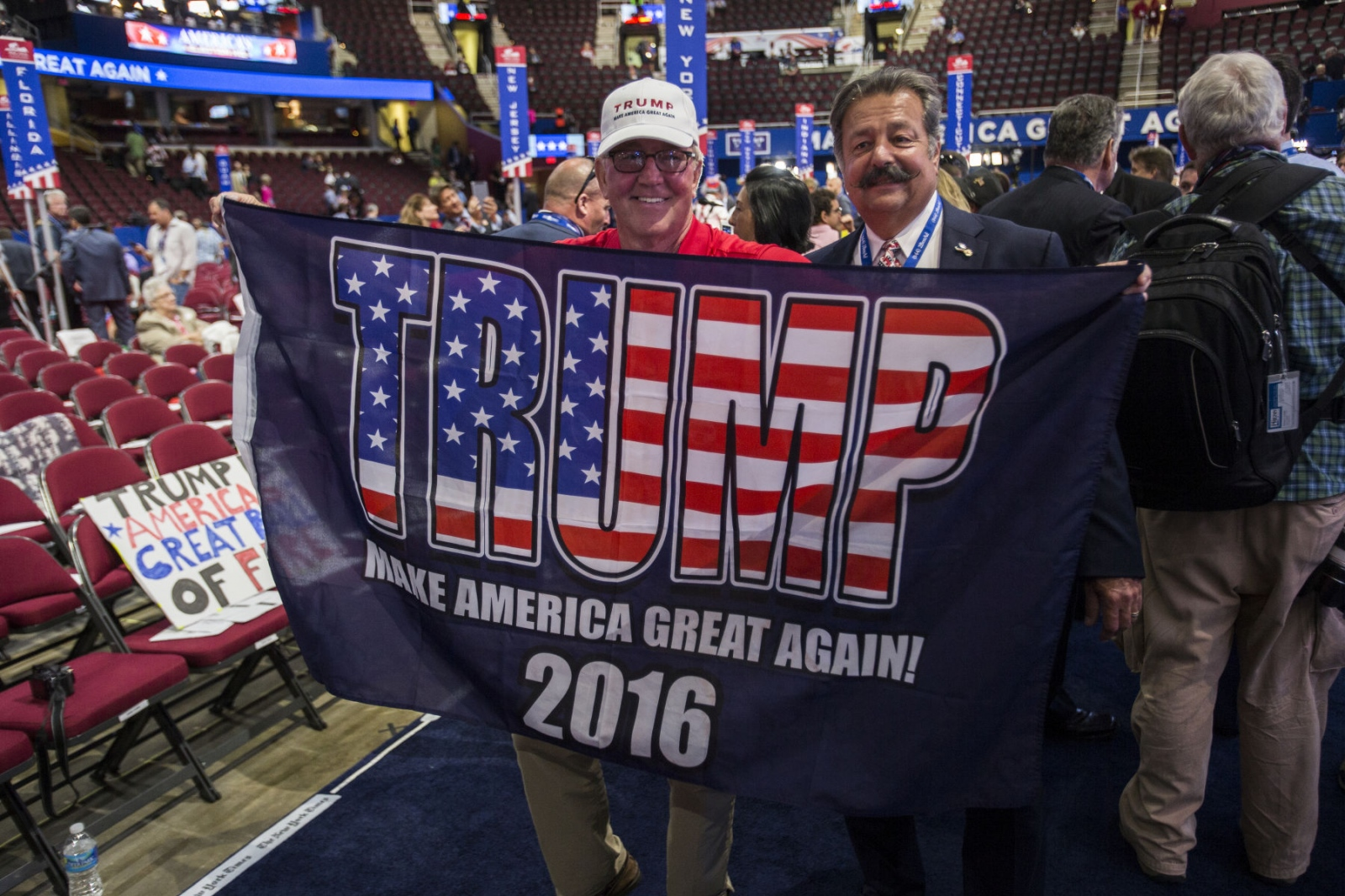 Trump supporters at the Republican National Convention in Cleveland, Ohio. July 21, 2016