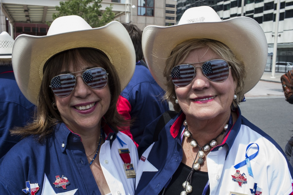 Trump supporters from the Texas delegation outside of the Republican National Convention. July 19, 2016