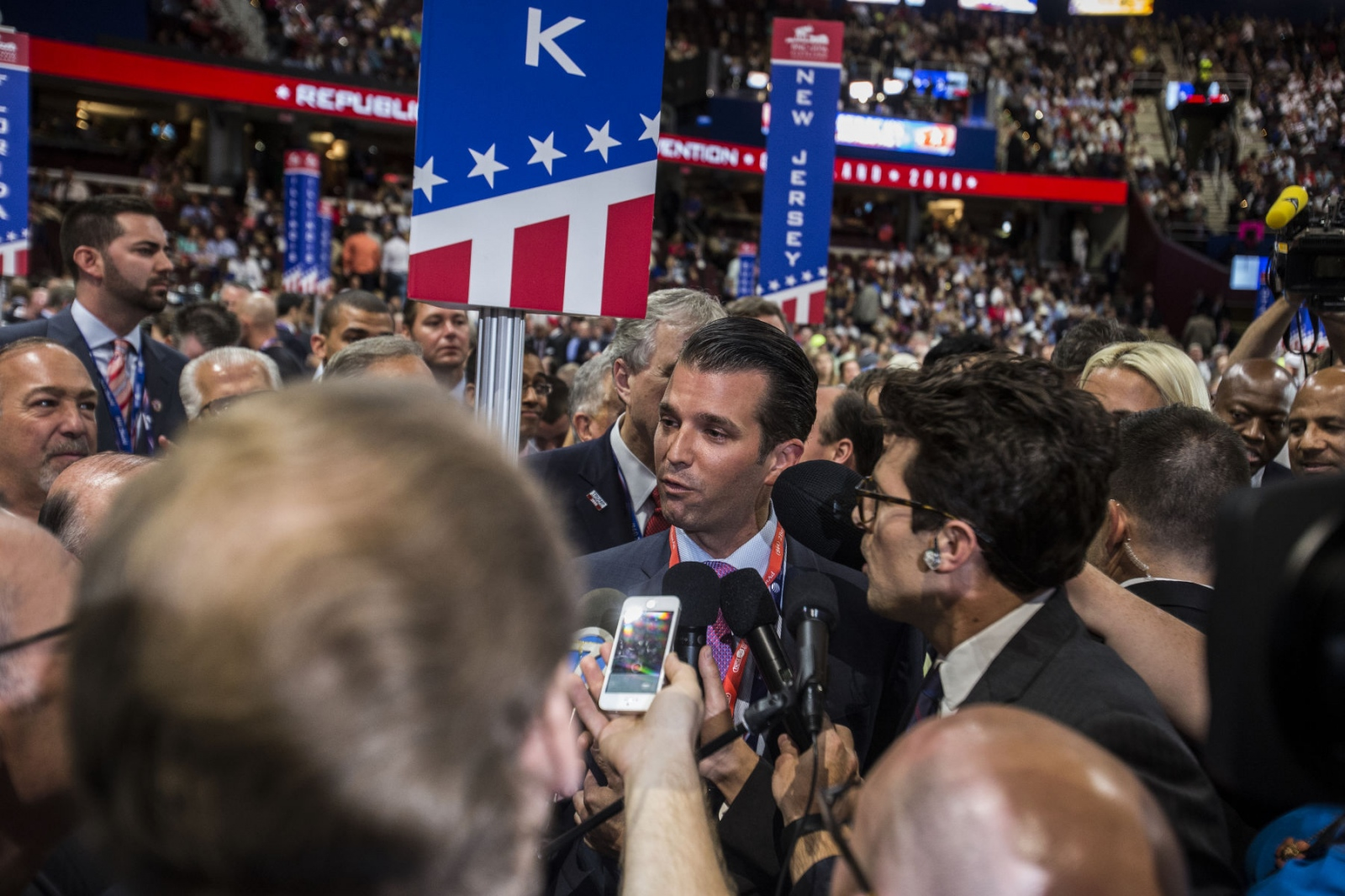 Donald Trump Jr. cast New York City's vote for Donald Trump for President of the United States at the Republican National Convention. July 20, 2016 (Kevin C Downs).