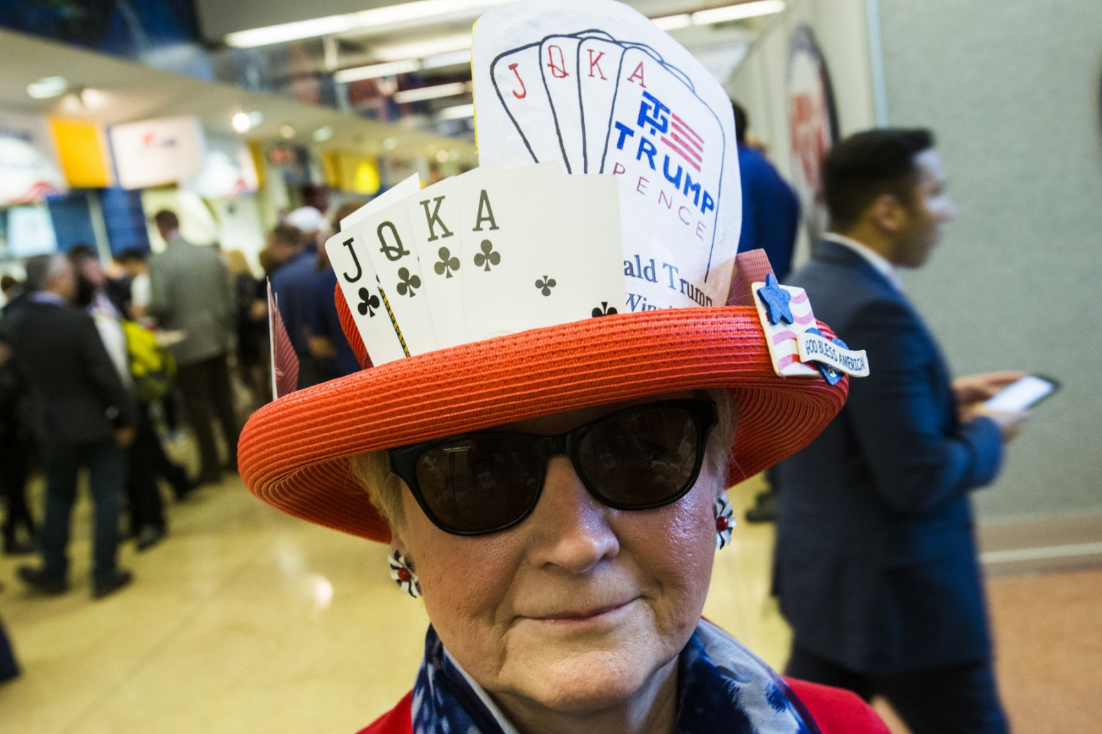 Trump supporter inside the Republication National Convention in Cleveland, Ohio. July 19, 2016