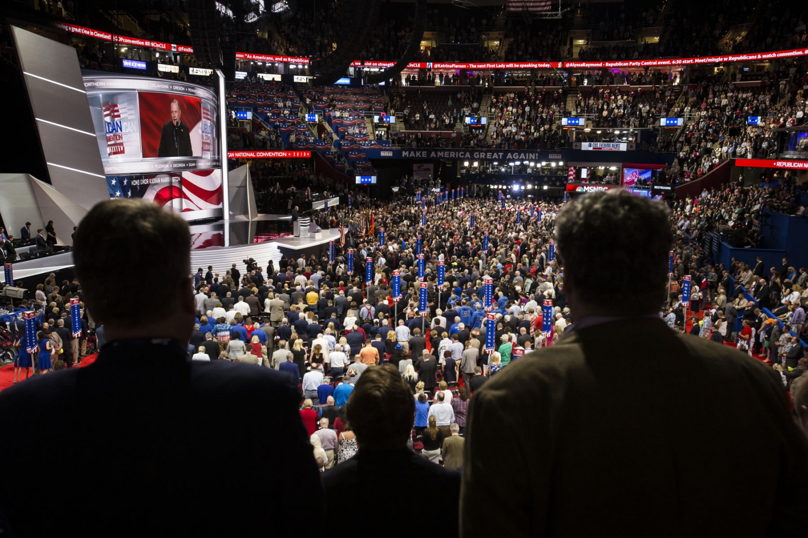 The crowd inside of the Republican National Convention. July 19, 2016