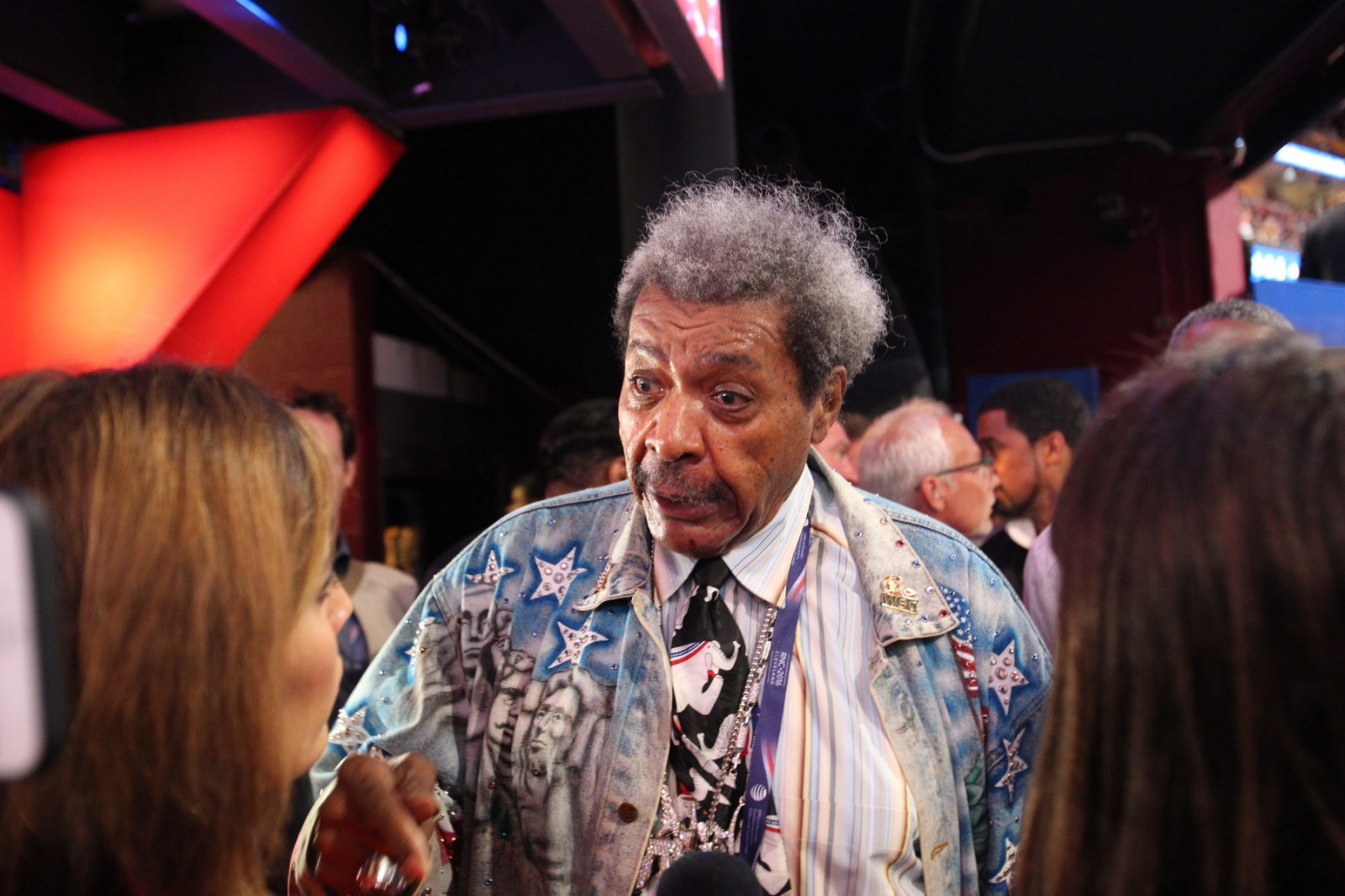 Former boxing promoter Don King at the Republican National Convention. July 20, 2016 (Kevin C Downs).
