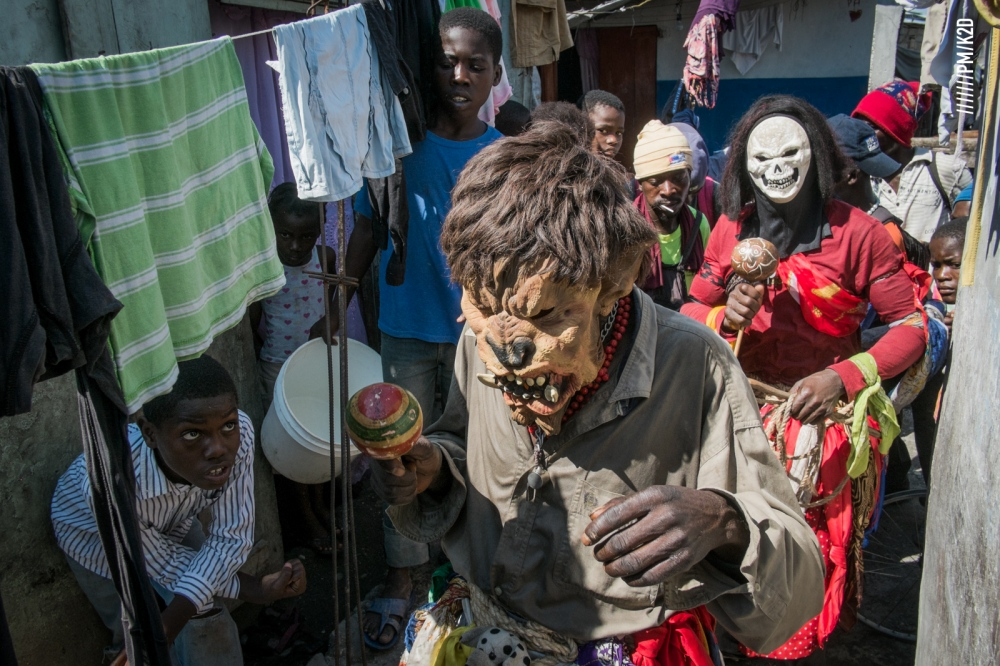 Photography image - Carnival in the popular district of Savane at Cayes, Haiti.