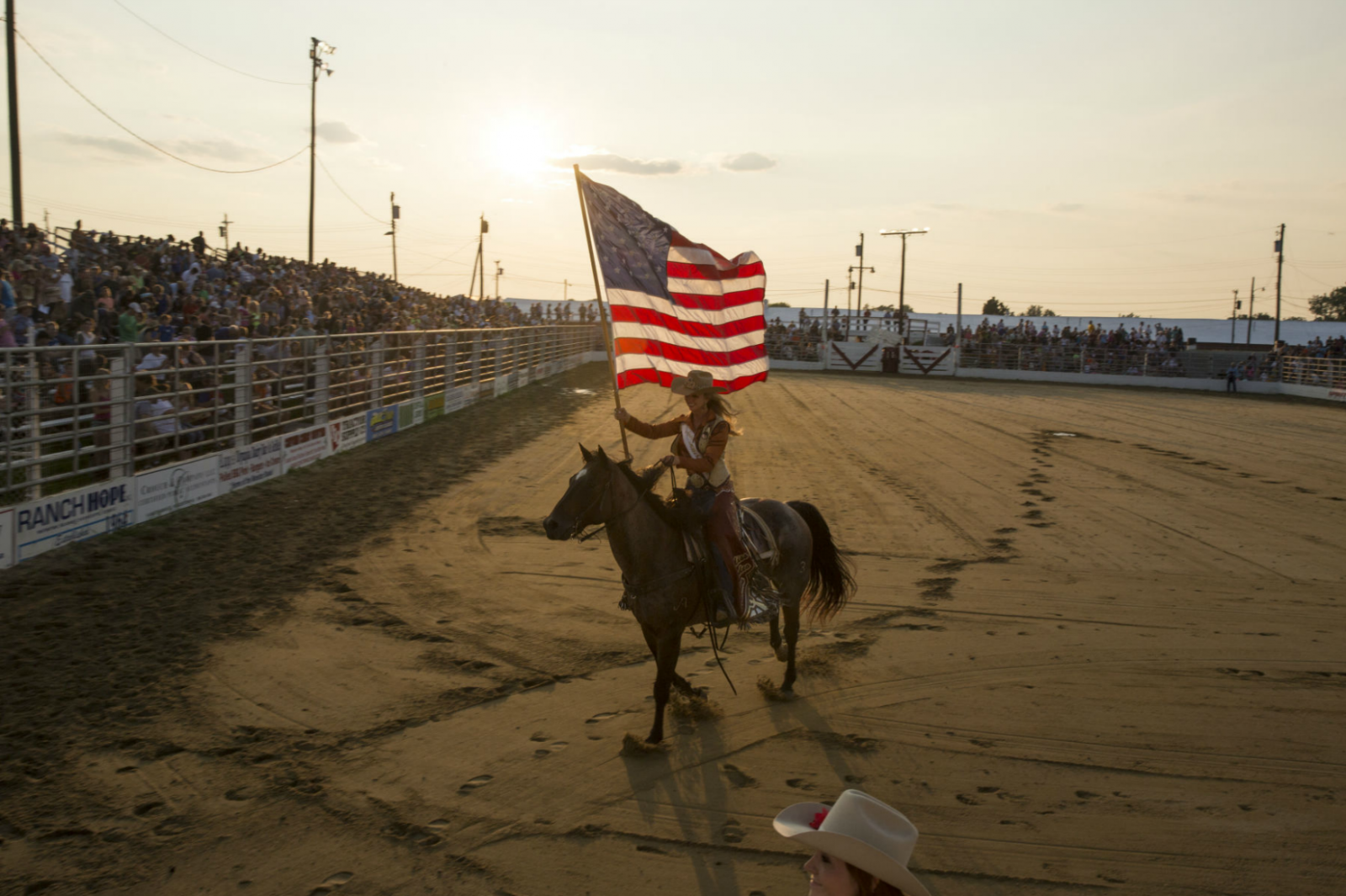 2015 Miss Rodeo America LAUREN HEATON, in the arena at Cowtown Rodeo, in Woodstown, NJ. (July 11, 2015/Kevin C. Downs/Cosmos)