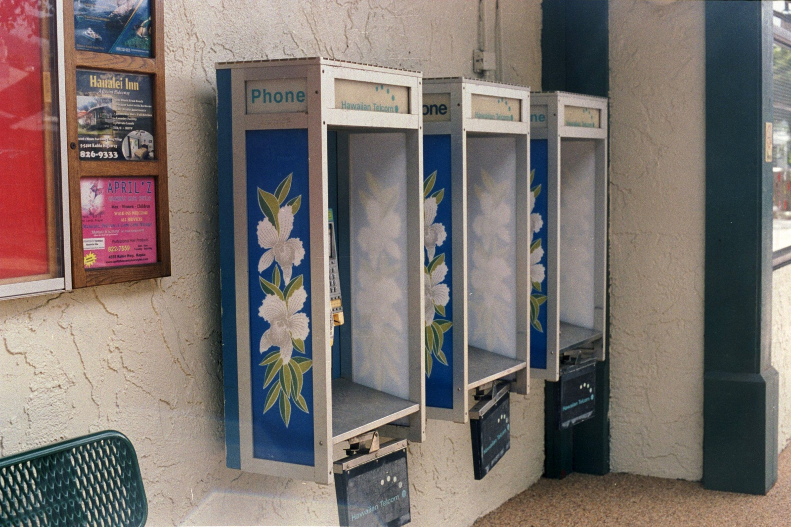 Pay phones in Hanalei, Kauai, HI