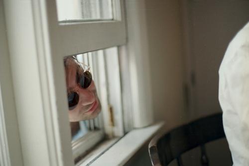 Denis in the window, Roscoe, NY