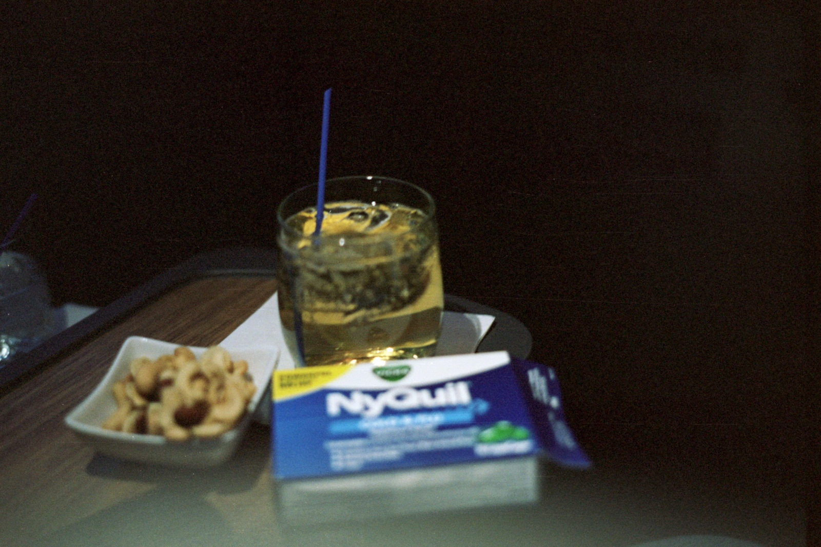 My first time in first class, Somewhere over America