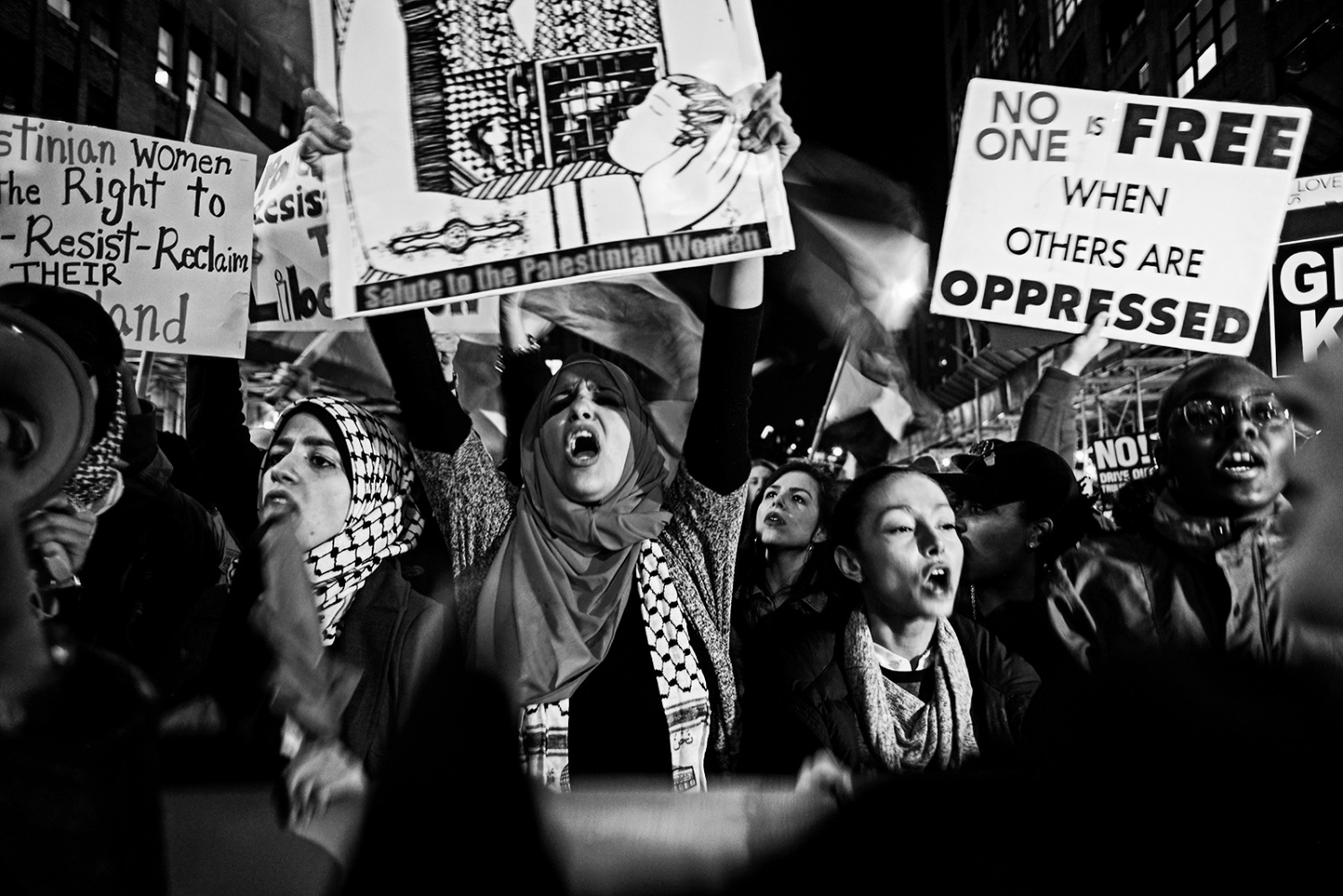 On January 29th, 2017, protestors in New York CIty take to the streets  after the Trump administration announced atemporary ban the entry of foreign nationals from some Muslim-majority countries through executive order, including refugees and visa holders. One of the countries in question is Sudan but this includes Iraq, Syria, Iran, Libya, Somalia and Yemen.