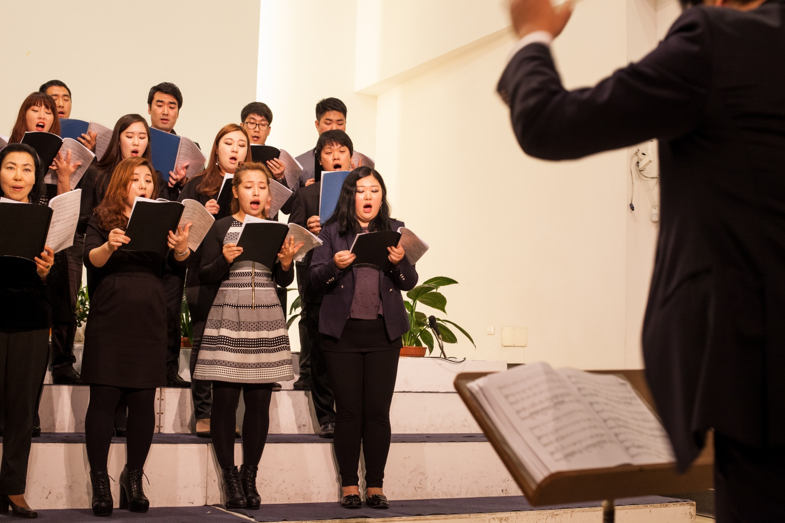 The choir of the Corean Evangelical Church in Quadraro, a working class neighborhood in southeast Rome.