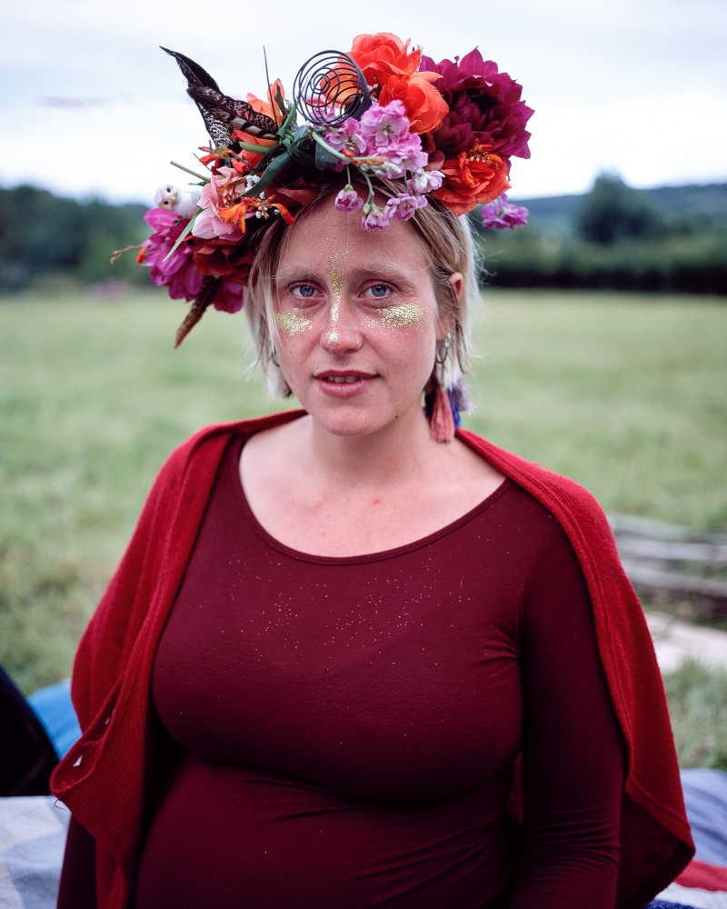 Aquila Rose at her Babymoon Ceremony, Dorset 2015. Personal.