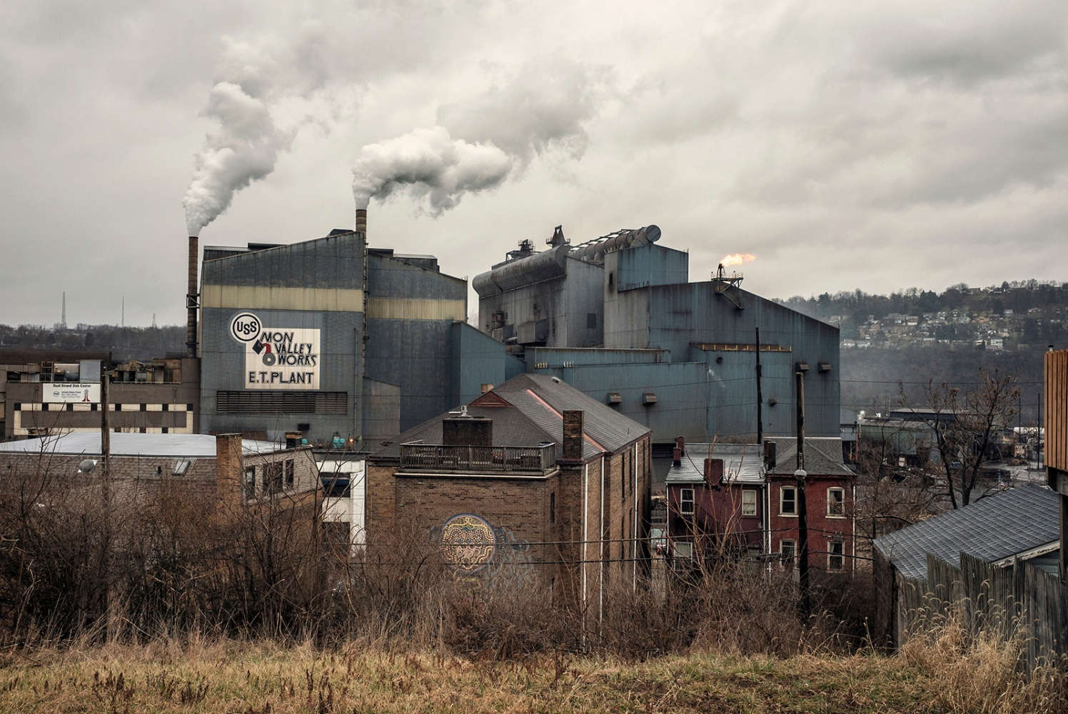 A vision of The Edgar Thomson Steel Works, steel mill in the Pittsburgh area communities of Braddock and North Braddock, Pennsylvania. Pennsylvania is one of the battleground states.  In 2012 Obama won Pennsylvania over Romney by 5.2%, in 2016 Donald Trump won by just 0.7%.