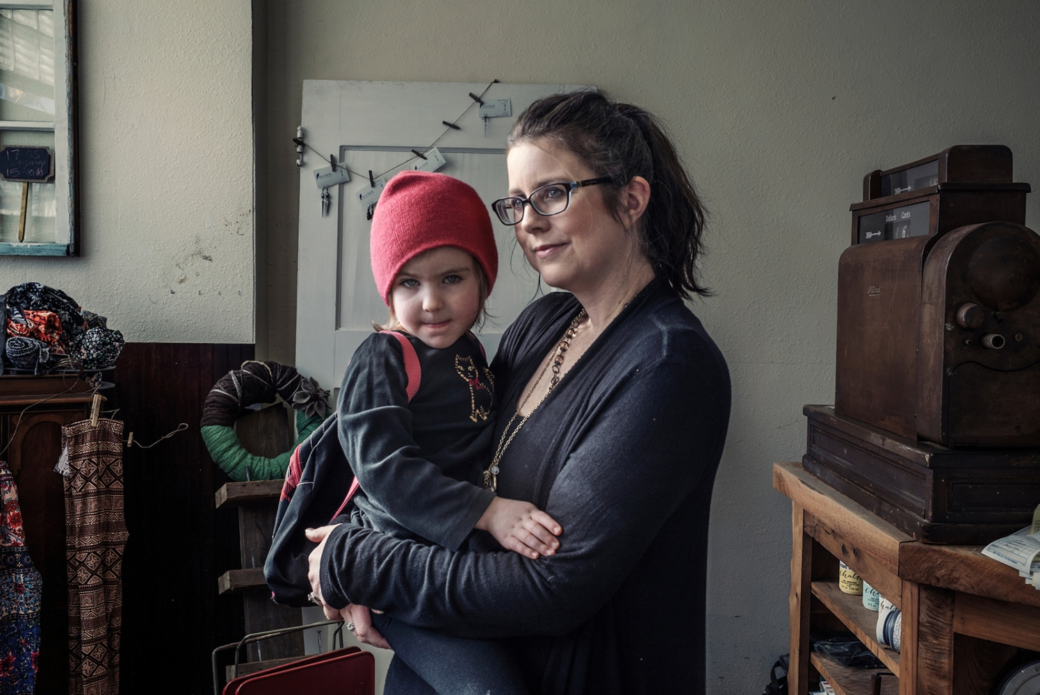 Kim and Amelia, Johnstown, Pennsylvania. Kim lives with her family in Johnstown. In Johnstown poverty rate is 34 percent, more than double the national figure, and in the last years Johnstown suffering from a rapidly declining population. Cambria County, home to Johnstown, chose Barack Obama during the 2008 election, but went heavily for Donald Trump in 2016 and Mr. Trump won for over 60% of preference.  She hopes that Donald Trump does well, but she told me that people wish him to fail.