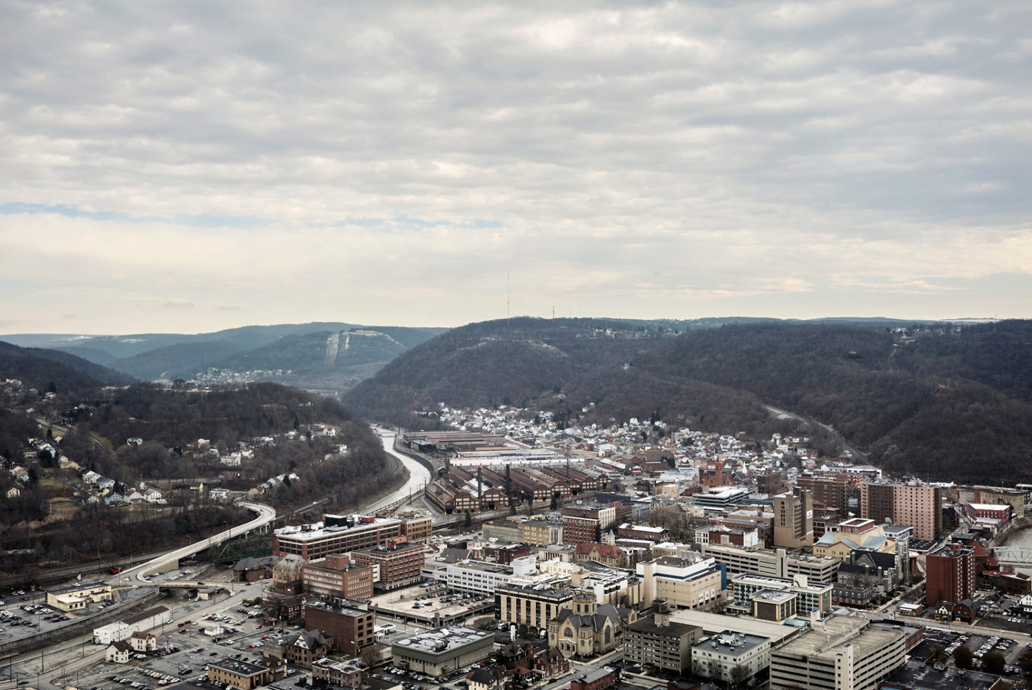 Johnstown, Cambria County, Pennsylvania. In Johnstown poverty rate is 34 percent, more than double the national figure, and in the last years Johnstown suffering from a rapidly declining population. Cambria County, home to Johnstown, chose Barack Obama during the 2008 election, but went heavily for Donald Trump in 2016 and Mr. Trump won for over 60% of preference.