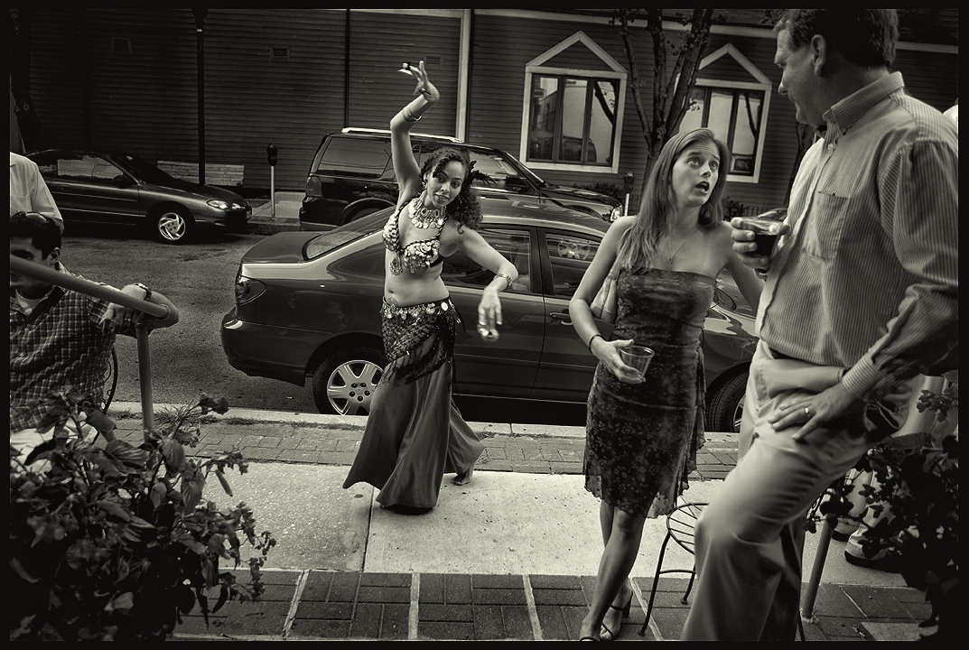 Belly dancer performing. Baltimore, Maryland.