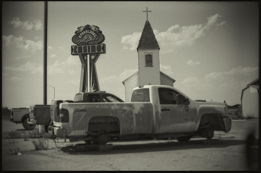 Casino,Church & wreck, Little Big Horn, Montana. July 2015