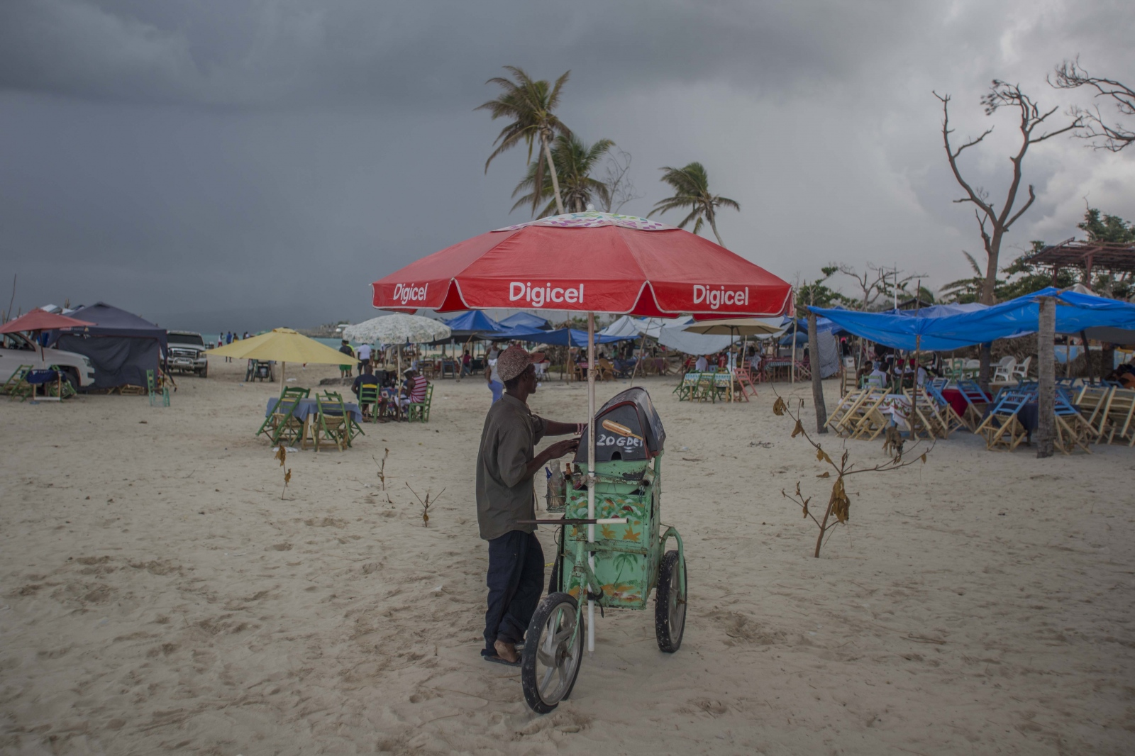 A vendor on one of the beaches in Port-Salut...