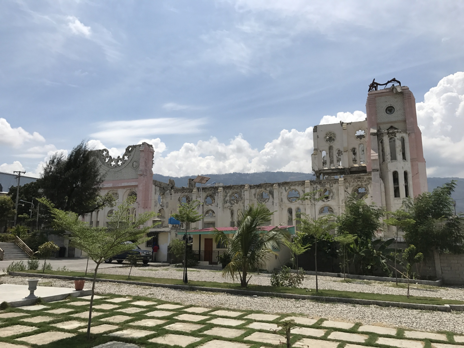 The old Port-au-Prince cathedral destroyed by...