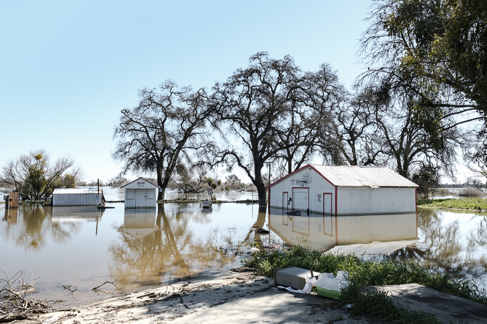 Flooded trailer park near the San Joaquin River, Winter 2017