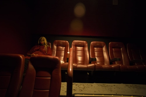 Brielle at the movies, Times Square, New York, 2014.