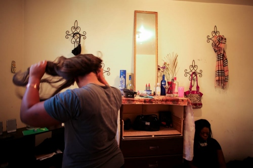Tara and Brielle in their room, South Bronx, New York, 2014.