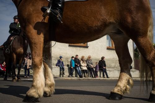 Easter Horseback procession. Gliwice, Poland.