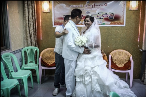Wedding of muslim people in Yangon city © Fatemeh Behboudi