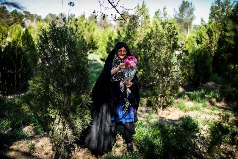 Mother of two martyrs When her sons were killed in war Every week she goes to visit them . its the only way for her calm . © Fatemeh Behboudi