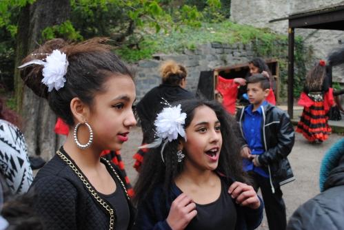 Gypsy people celebrating in Olomouc