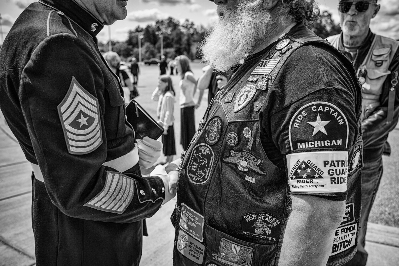 """Patriot Guard""-Veterans Funeral, Michigan"