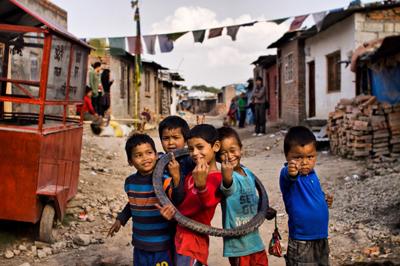 Imaginary kids from slum,Nepal