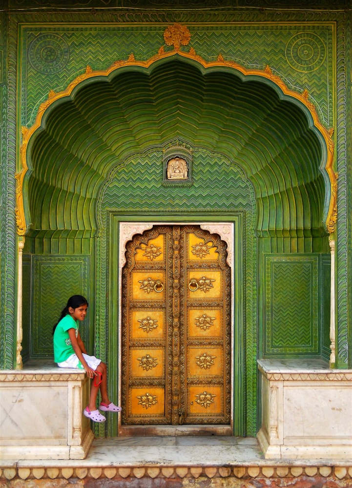 Girl in the Amber Fort, Jaipur, India