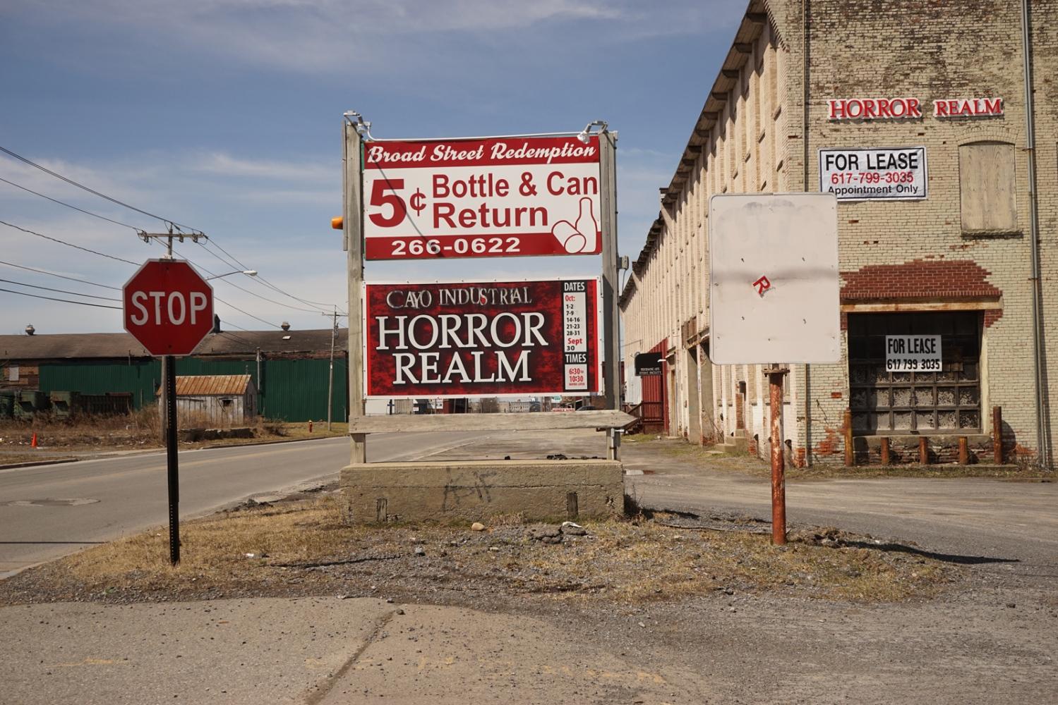 Horror Realm, former industrial hub, Broad Street, Utica, NY