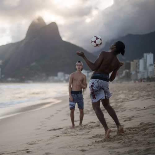 Brazil - Soccer at Sunset